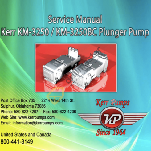 Каталог запчастей Kerr KM-3250PT, KM-3300PT