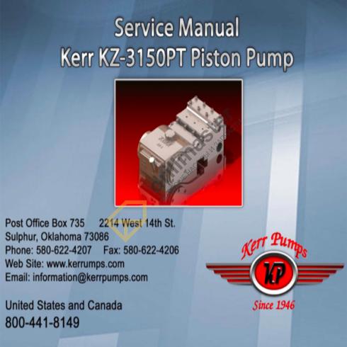 Каталог запчастей Kerr KZ-3150PT